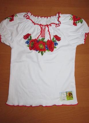Вышиванка для девочки  интерлок 100% хлопок размер 116