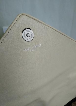 Кожаная сумочка в бежевом цвете8