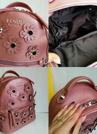 Городской рюкзак с цветочками)