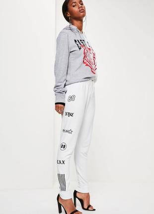 Белые штанишки с принтом 210257 missguided размер uk14/42 (l)