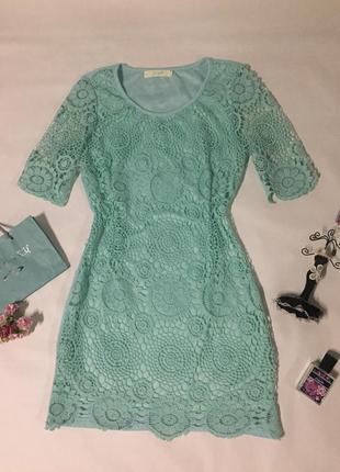 Ажурное платье нежного мятного цвета от мирового бренда wind