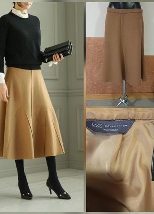 Фирменная стильная качественная натуральная тёплая юбка цвета cemel.