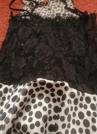 Платье в горошек с бантом кружево5