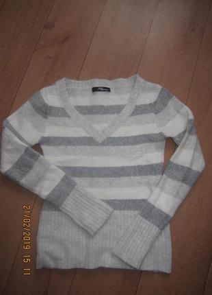 Теплый свитер кофта из ангоры и шерсти jane norman для девочки 8-10 лет