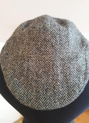 Твидовая кепка harris tweed
