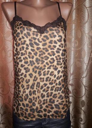 Красивая леопардовая майка