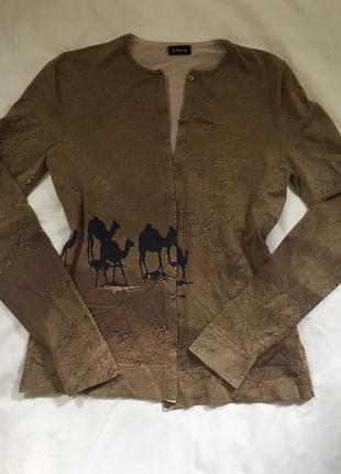 Красивая шёлковая кофта akris cuccinelli оригинал италия