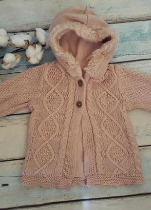 Кофта, вязаная курточка, свитер george 6-9 мес
