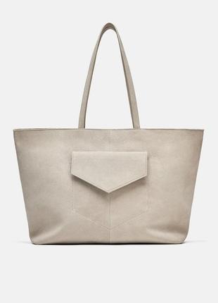 Zara сумка женская замшевая.