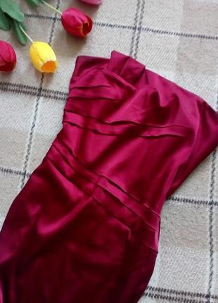 Атласное платье бюстье jjb bencon