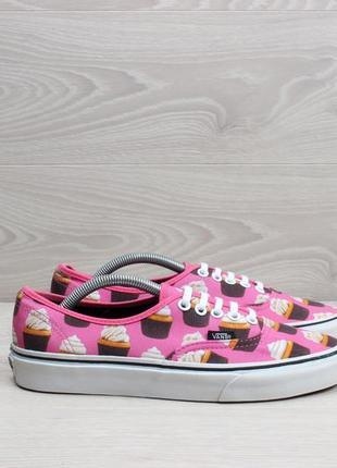 Розовые кеды vans с капкейками, оригинал, размер 39