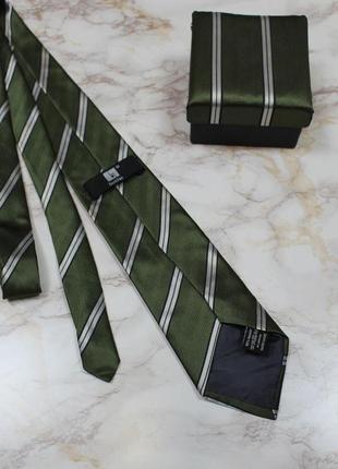 Обнова! галстук в подарочной упаковке сатин в полоску качество2