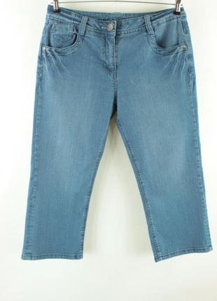 Синие джинсовые бриджи с вышивкой на карманах george