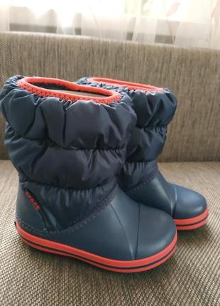 Сапоги ботинки crocs winter puff boots p. c8 (24-25)
