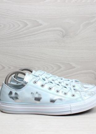 Кожаные кеды converse all star оригинал, размер 39 (ментоловые, серебряные)