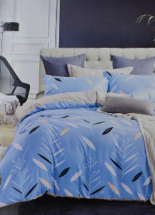 Комплект постельного белья двуспальный и евро 200 на 230 сатин