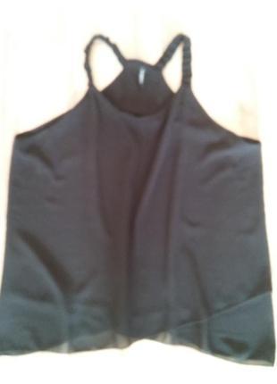 Шифоновая блуза на бретелях