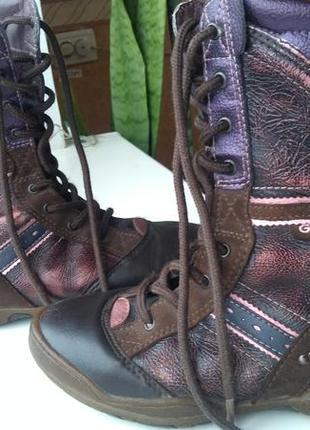 Кожаные демисезонные ботинки geox