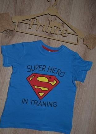 Футболка мальчику h&m 2-3г super hero