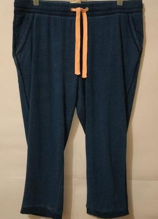 Натуральные синие спортивные штаны большой размер george uk 18/46/\.xxxl