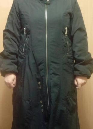 Пальто болоневое, на флисовом утеплителе