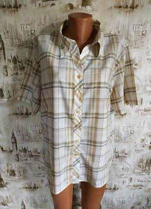 Классная рубашка в клетку. на бирке- xxl р-р (54-56)