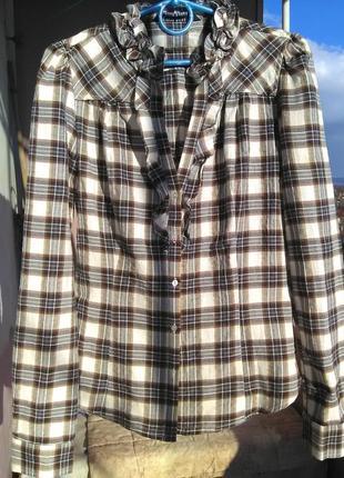 Супер рубашка с воланами zara