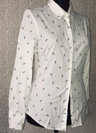 Коттоновая рубашка с принтом zara