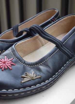 Кожаные туфли лоферы мокасины loretta ручная работа р.38 24-25