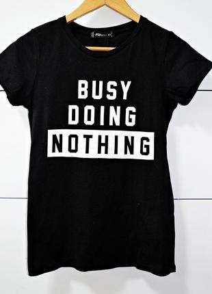 """Крутая новая котоновая футболка с прикольным принтом """"занят, ничего не делая"""" fb sister"""