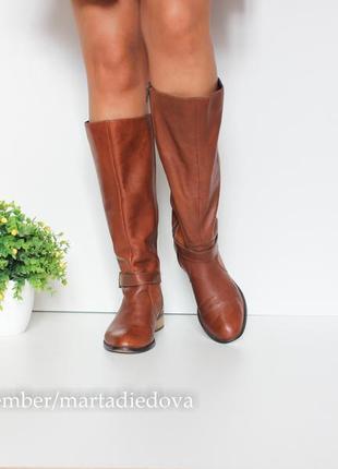 Кожаные ботинки сапоги, натуральная кожа, бренд faith