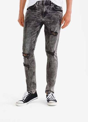 Мужские узкие джинсы, скинни, варенка, рванные clockhouse