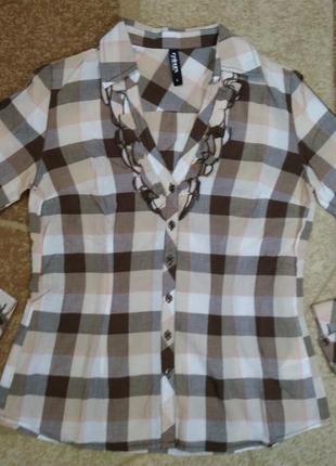 Хлопковая рубашка takko германия, размер с