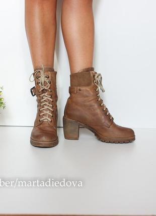 Кожаные ботинки сапоги, натуральная кожа полностью