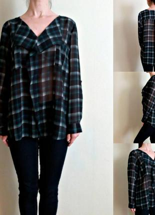 Блуза свободного кроя с длинными рукавами