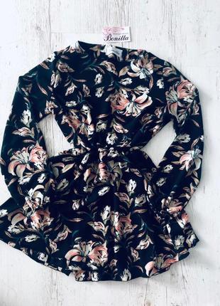 Плаття платье весеннее легкое в цветы в квіти