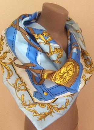 Очень красивый платок из дорогой коллекции . печать. натуральный шёлк .  франция 🇫🇷