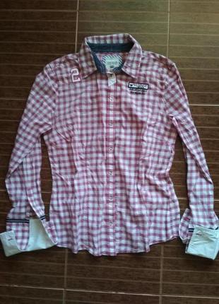 Отличная рубашка в клетку от tom tailor polo team, p. 40, без запонок