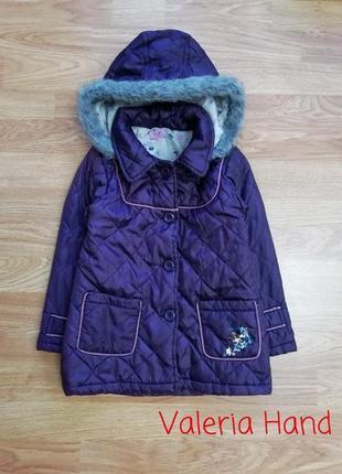 Легкая демисезонная стеганая куртка - пальто f&f - девочка - возраст 4-5 лет