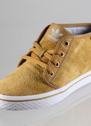 Кожаные (замша) ботинки дезерты adidas honey desert 22.5 см