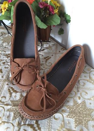 Кожаные туфли -мокасины
