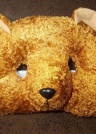Маска медведь медвежонок тканевая мягкая новая