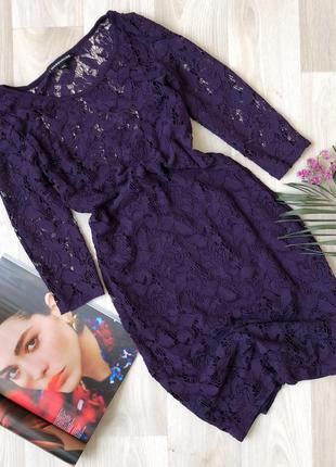 Кружевное платье по фигуре