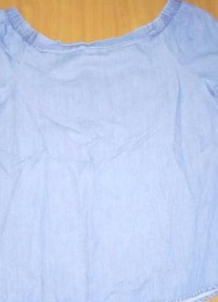 Джинсовая блуза на плечи