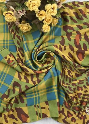 Люксовый 💚👑💚 шелковый платок из шёлка christian dior, франция, роуль.