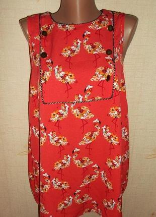 Яркая блуза  на пышную женщину- р. 5xl -next
