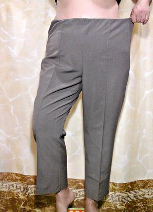 Комфорные брюки на резинке с застроченными стрелками