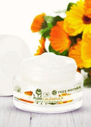 Скидка! восстановливающий дневной/ночной крем pure calendula. yves rocher