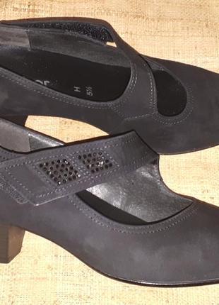 5/5-25.5 -26 см замша туфли gabor made in portugal