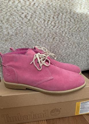 Кожаные весенние ботинки timberland из замши  ( 40 размер ) --срочно--